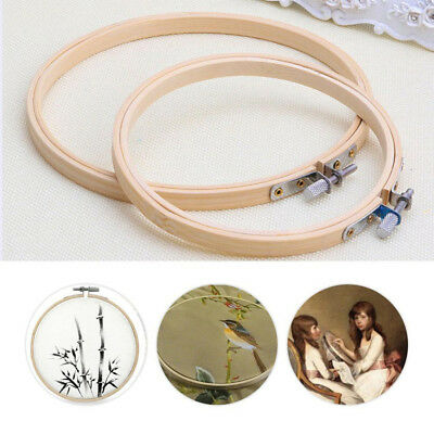 4 Sizes Durable Bamboo Cross Stitch Machine Embroidery Hoop Sewing Ring Tools