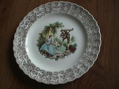Sebring Pottery Co Serenade I-K-S518 Vintage China Plate 22K Gold Made In Usa