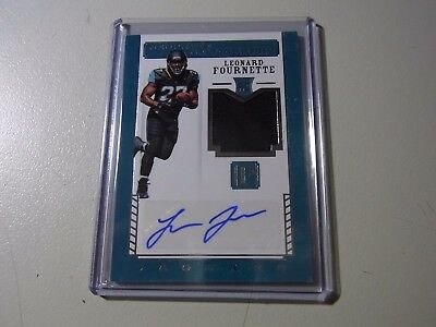 2017 Panini Pantheon Neophyte Calligraphy RC RPA Patch Auto Leonard Fournette