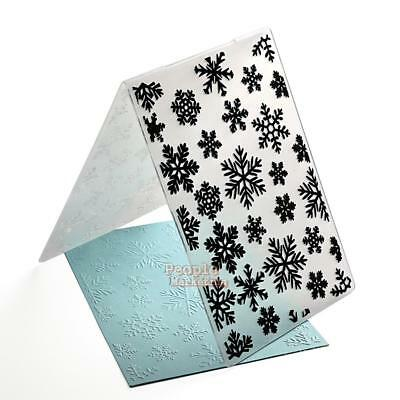 Xmas Snowflake Plastic Embossing Folders Template Making DIY Paper Cards Craft