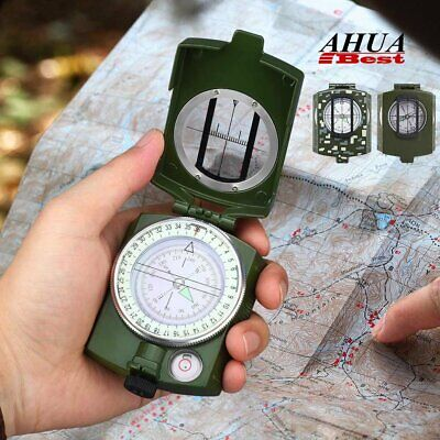 Professional Military Pocket Compass  Outdoor Camping Hiking Sighting Clinometer