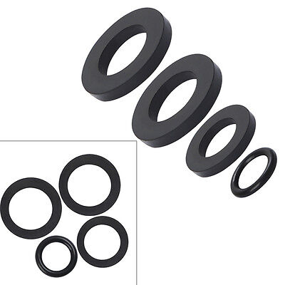 4PCS Black Neoprene RUBBER WASHERS O Ring Sealing Tap Assorted Water Gaskets NEW