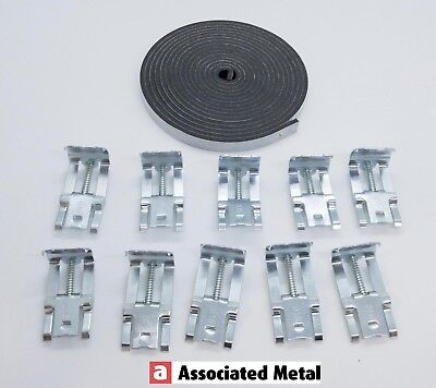 Kitchen Sink Fixing/Fitting Kit. 10 x Clips and 3mtr Sealing Tape