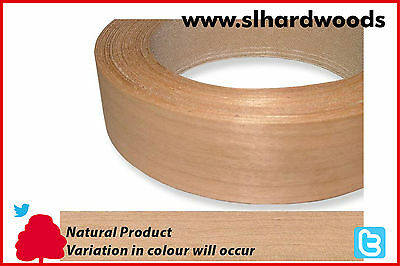 Real Wood Veneer Iron on Edging Tape Pre Glued Cherry 30mm x 50mtr