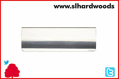 Flap Polished Chrome 254mm x 83mm Inner Door Letter Plate BC146A Tidy