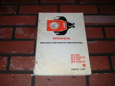 Honda St50 & St70  Parts Catalogue. 1977