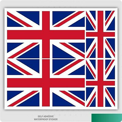 4 X Union Jack Flag Vinyl Car Van Ipad Laptop Sticker British
