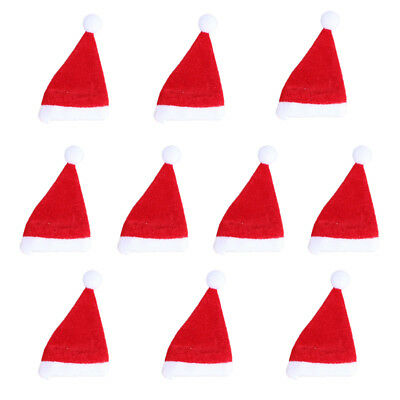 10x Santa Claus Hat Cap Red Wine Soft Christmas Bottle Cover For Christmas Hot
