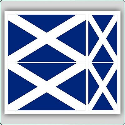 4 X Scottish Flag Vinyl Car Van Ipad Laptop Sticker Scotland