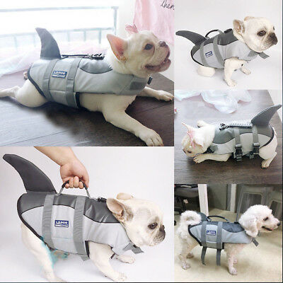 Buoyancy Pet Dog Life Jacket Shark Float Vest Adjustable Swimming Aid Costume UK
