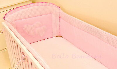 Luxury ALL ROUND NURSERY BUMPER/420/360cm long/Padded 4 Sided/Cot Bed  COTTON!