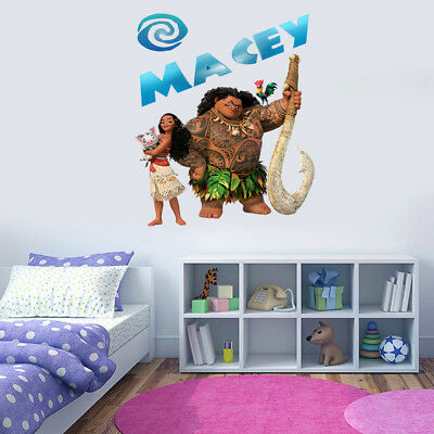 Personalised MOANA Inspired Wall art Sticker Decal with Water-Design NAME
