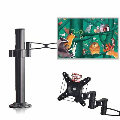 "13-27"" Adjustable Single Arm for LCD Monitor Desk Mount Stand Holder Tilt Swivel"