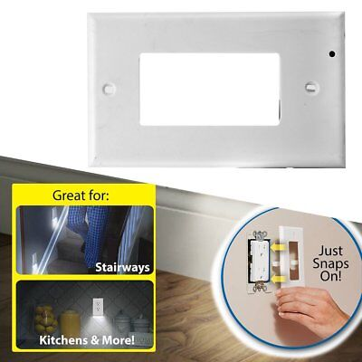 Home Plug Cover LED Light Sensor Night Angel Wall Outlet Face Hallway Coverplate