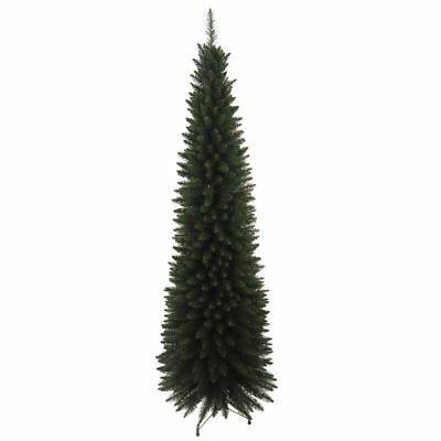 The Christmas Workshop 6 ft Slim Line Artificial Christmas Tree, Green