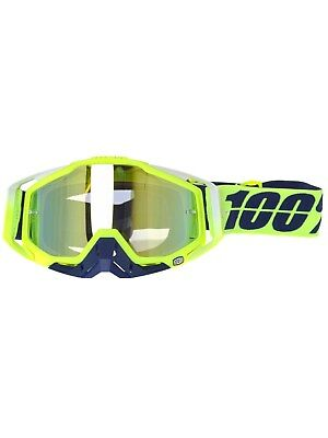100 Percent Tanaka-Mirror Gold Racecraft MX Goggle