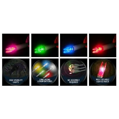 Nockturnal Archery Lighted Nock - G, H, S, X Series - Variety of Colours (Qty 3)