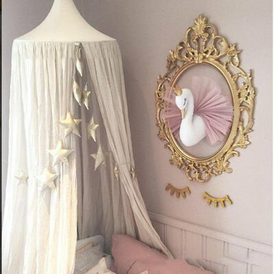 Golden Crown Swan Wall Art Hanging Girl Swan Doll Toy Wall Decor For Kids RoomBL