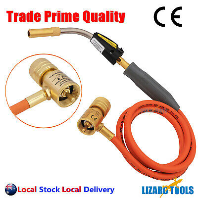 Mapp Gas Torch Auto Ignition Propane Welding Plumbing Brazing 1.4 MTR Hose T0325