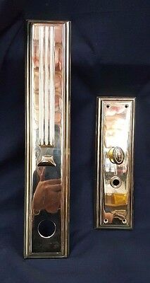 Baldwin Large Front and Back Solid Brass Door Plates Set of Two