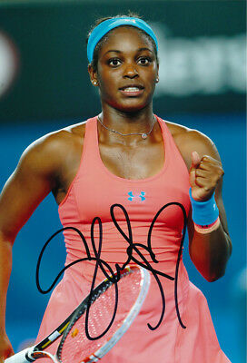 Sloane Stephens Signed 8X12 Inches Tennis Photo