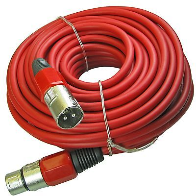 NEW 100ft foot XLR 3pin Male to Female RED mic microphone extension cable cord