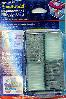 Penn Plax Small World Replacement Filtration Units 3 Two Packs (6 total)