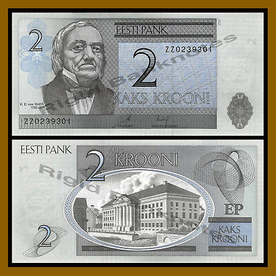 Estonia 2 Krooni, 2007 P-85b Replacement (ZZ) Unc