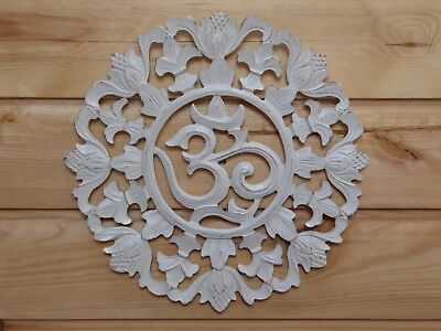 Wooden Painted Shabby Chic OM Plaque 30cm..