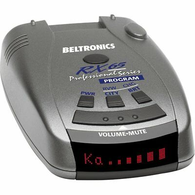 Beltronics RX65 Professional Series Radar Detector, Red Display - NEW