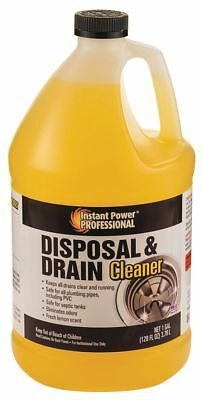 Instant Power Disposal and Drain Cleaner, 1 gal. Bottle, 1 EA 1 gal. Yellow 8816