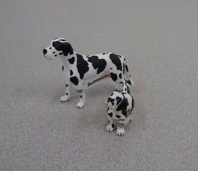 Schleich West Great Dane Set Dog Pet Life Figure Toy Retired W/Tag