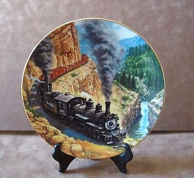 """""""above The Canyon"""" Plate ~ The Golden Age Of American Railroads ~ Le # 3328A"""