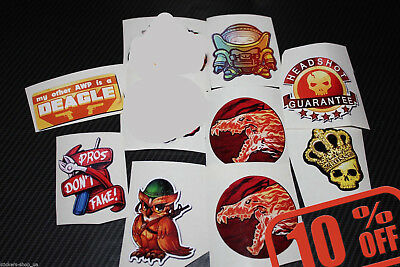 DISCOUNT 10 any Stickers from CS GO in real life Counter Strike Global Offensive