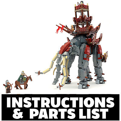 Custom LEGO Lord of the RIngs Oliphant Instructions PDF