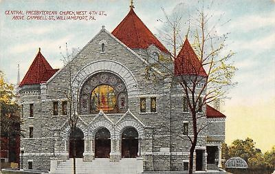 Williamsport PA~Central Presbyterian Church @ Campbell~Stained Glass Window 1910
