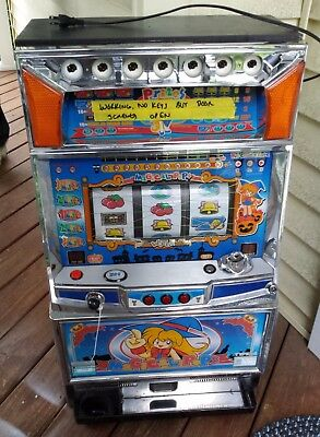 "Vintage Japanese Yamasa ""Magical Pops"" Pachislo Slot Machine-For Parts Or Repair"