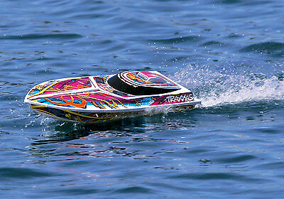 Traxxas 38104-5, Blast Waterproof Electric Race Boat, Radio/Battery/Charger, RTR