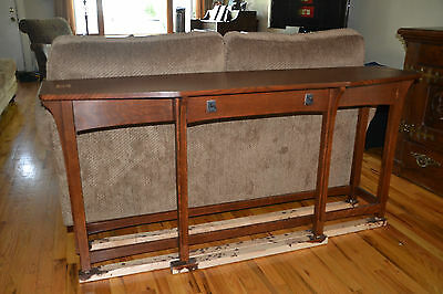 Stickley Oak Console Table w RARE OneOff Harvey Ellis Inlay 89