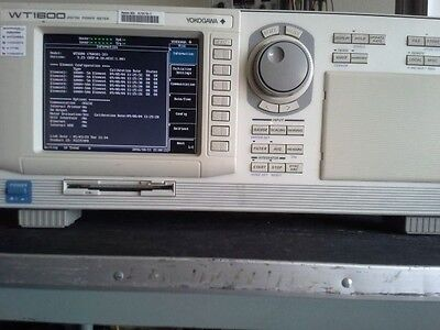 Yokogawa WT1600  3 Phase Power Motor Analyzer 6 Channels Options 33 C2 D Low use