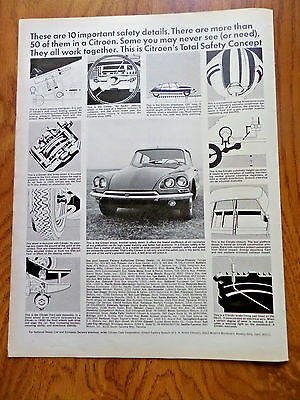 1968 Citroen Ad these are 10 Important Safety Details
