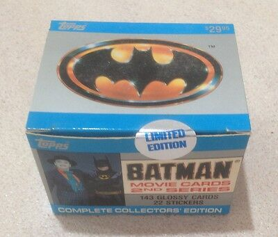 """1989 Topps """"Batman Collectors' Edition - Series 2"""" - Factory Sealed Box"""