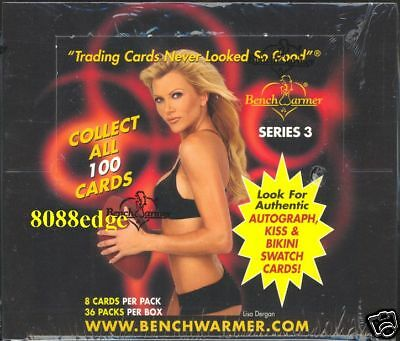 2003 Benchwarmer Series 3 Sealed Box - Kiss/bikini/auto