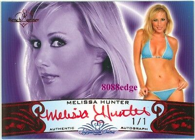 "2010 Benchwarmer Ss Red Auto: Melissa Hunter #1/1 Of Autograph ""Mojo"" Signature"