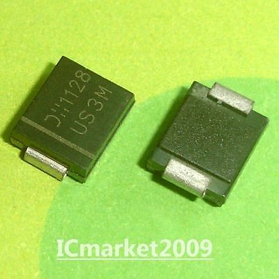 10 PCS US3M DO-214AB SMC Diodes, SURFACE MOUNT ULTRA FAST SWITCHING RECTIFIER