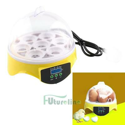 Unique 7 Egg Turning Incubator Chicken Hatcher Temperature Control OF