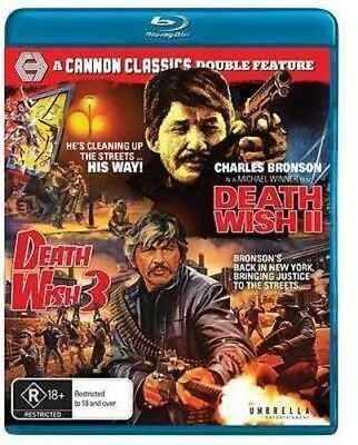 Death Wish 2 / Death Wish 3 [New Blu-ray] Australia - Import