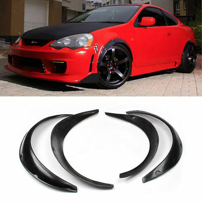 4Pcs Black 83cm Universal Fender Flares Flexible Yet Durable Polyurethane Kit