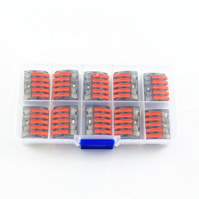 10X Wago Type Wire Connector 5 Pole Terminal Block CAGE CLAMP 222-415 BOX