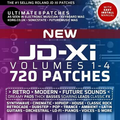 ROLAND JD-Xi ULTIMATE PATCHES • VOLUME 3-4 Bundle • 360 Best-Selling Patches